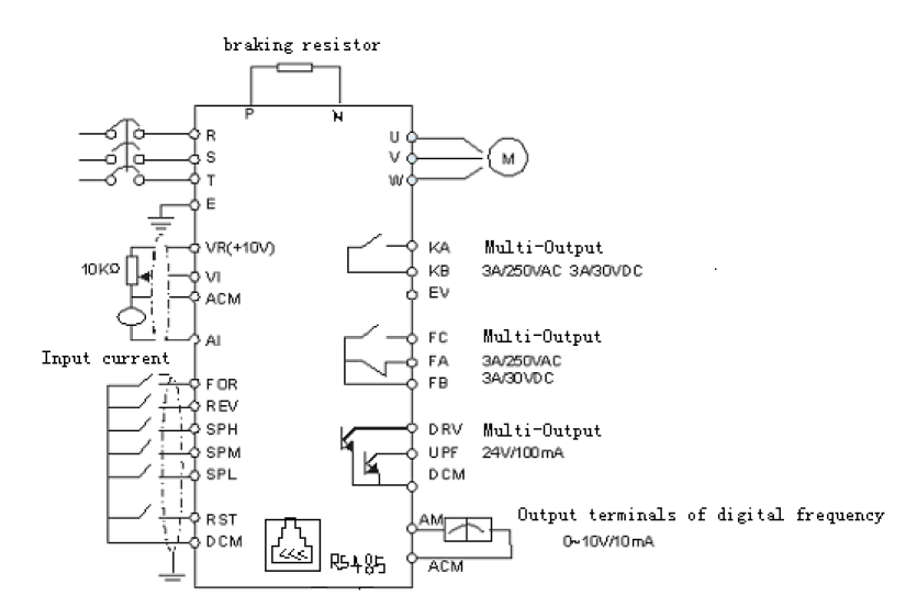 Vfd Control Inputs on Forward Reverse Motor Wiring Diagram