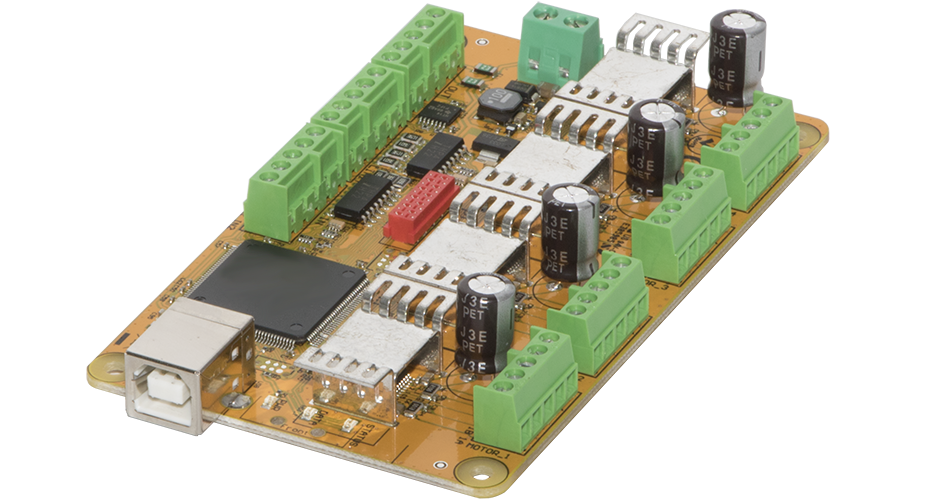 CNC USB controller Mk3DRV (4 axis) with integrated stepper drivers